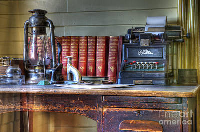 Typewriter Photograph - Nostalgia Office by Bob Christopher