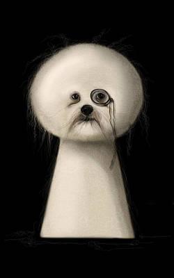 Puppies Digital Art - Not A Keyhole by Zdralea Ioana