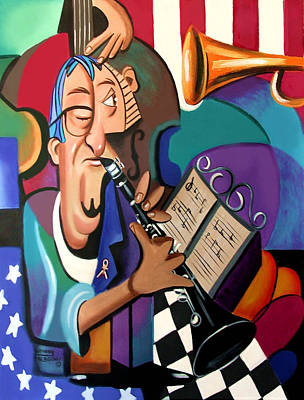 Clarinets Painting - Not Blowing Your Own Horn by Anthony Falbo