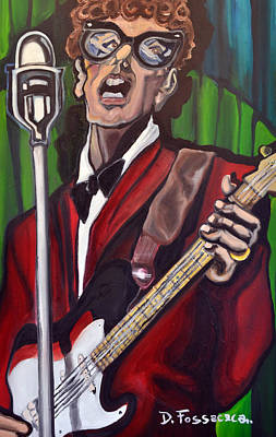 Painting - Not Fade Away-buddy Holly by David Fossaceca