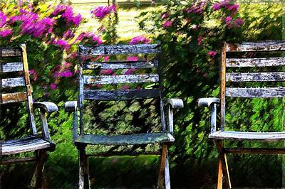 Empty Chairs Mixed Media - Not Forgotten by Terence Morrissey