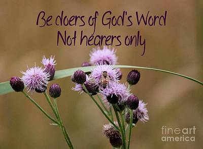 Photograph - Not Hearers Only by Erica Hanel