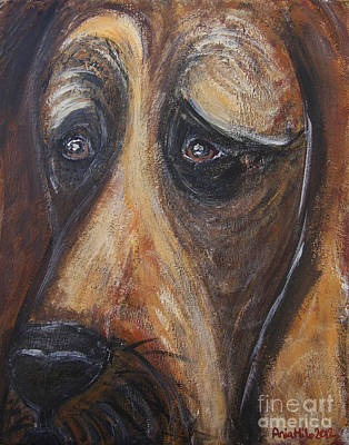 Ania Painting - Nothin But A Hunddog by Ania M Milo
