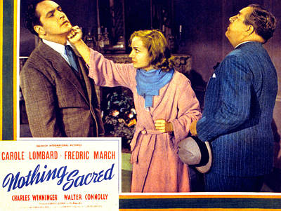 Subject Poster Art Photograph - Nothing Sacred, Fredric March, Carole by Everett