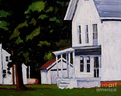 Old Farmhouse Painting - Nothing Stirring by Charlie Spear