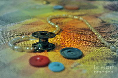 Sewing Thread Photograph - Notions by Gwyn Newcombe