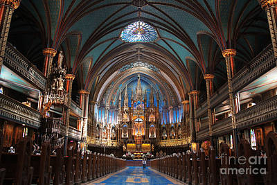 Photograph - Notre Dame Basilica Inside Montreal  by Lee Dos Santos