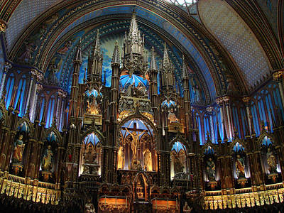 Mixed Media - Notre Dame Basilica Montreal by Bruce Ritchie