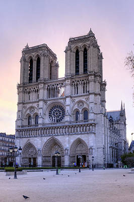 Notre Dame Cathedral At Sunrise Art Print by Copyright (c) Richard Susanto