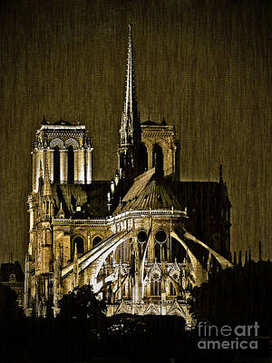 Painting - Notre Dame Cathedral by Paul Topp