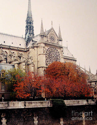 Photograph - Notre Dame In Autumn by Patricia Januszkiewicz