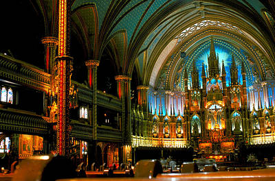 Notre Dame In Montreal Art Print by Carl Purcell