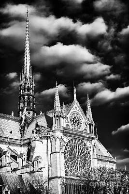 Photograph - Notre Dame Side View by John Rizzuto