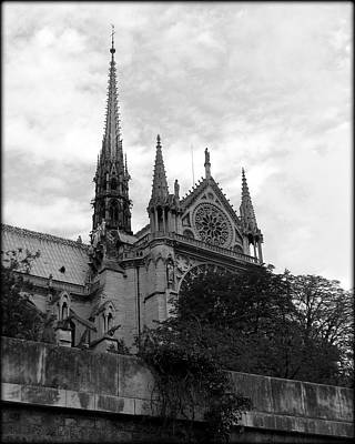 Photograph - Notre Dame Spire And Rosettes by Carla Parris