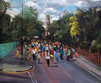 Notting Hill Carnival Art Print by Edward Ofosu