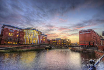 Photograph - Nottingham Canal Sunset by Yhun Suarez