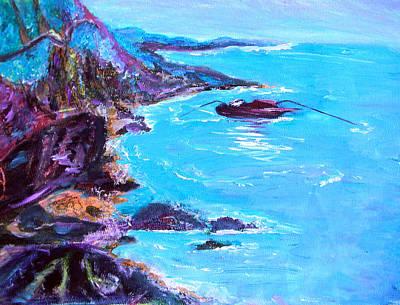 Scenic Drive Painting - Nova Scotia Shore by Christy Usilton