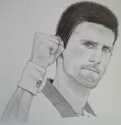Novak Djokovic Print by Andrew Nelson
