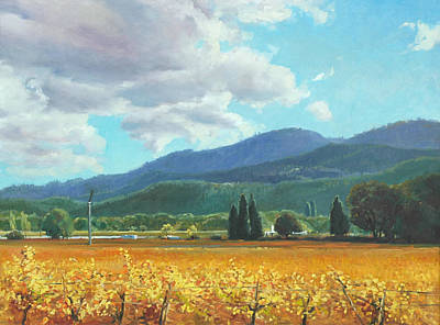 Napa Valley Vineyard Painting - November Gold by Paul Youngman