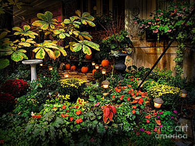 Photograph - November Nyc Garden by Joan  Minchak