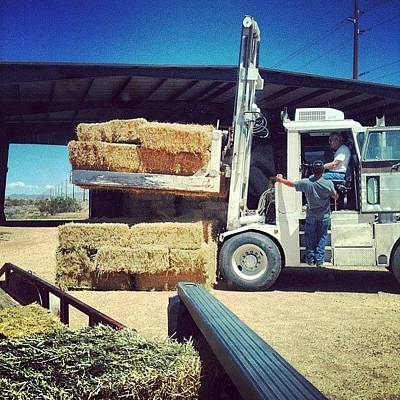 Machine Wall Art - Photograph - Now This Is The Way To Move Hay! 🙌 by Jennifer OHarra