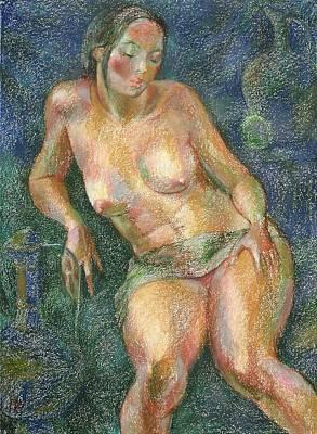 Nu 25 Art Print by Leonid Petrushin