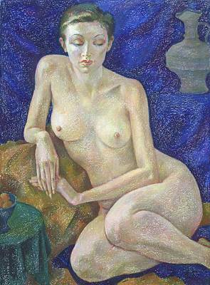 Pastel Painting - Nu 27 by Leonid Petrushin
