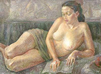 Nu 28 Art Print by Leonid Petrushin