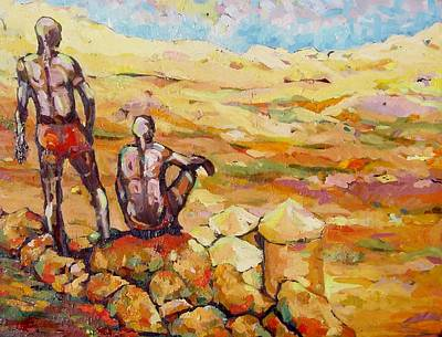 Painting - Nuba Hills  by Negoud Dahab
