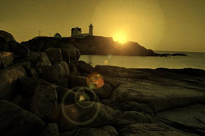Photograph - Nubble Burst by Emily Stauring