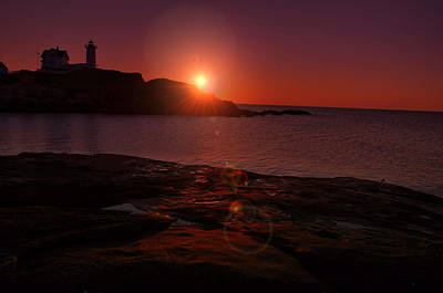 Photograph - Nubble Dawning by Emily Stauring