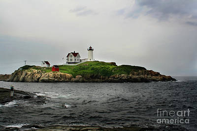 Art Print featuring the photograph Nubble Light by Adrian LaRoque