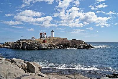 Photograph - Nubble Light II by Joe Faherty