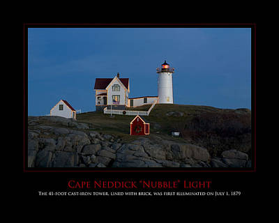 Nubble Light Art Print by Jim McDonald Photography