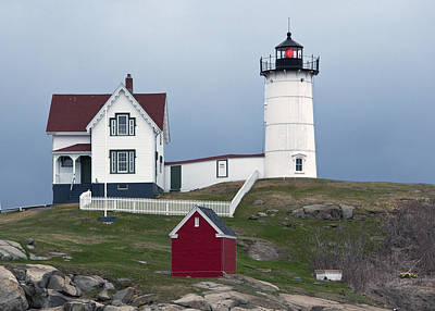 Photograph - Nubble Lighthouse Cape Neddick Maine by Glenn Gordon
