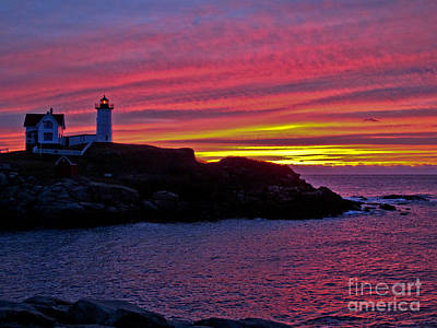 Cape Neddick Light Station Photograph - Nubble Lighthouse by Scott Moore