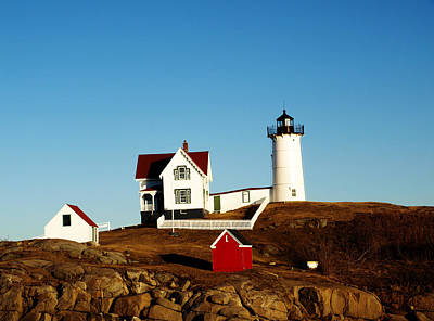 Photograph - Nubble Plain And Simple by Mary Capriole