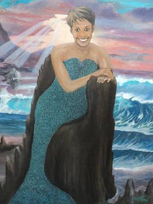 Painting - Nubian Mermaid by Angelo Thomas