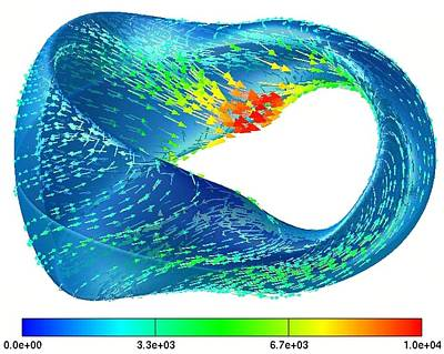 Nuclear Fusion Plasma Simulation Art Print