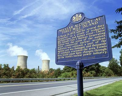 Meltdown Photograph - Nuclear Power Station Accident Plaque by Martin Bond