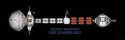 Digital Art - Nuclear Spaceship Uss Cumberland by David Robinson