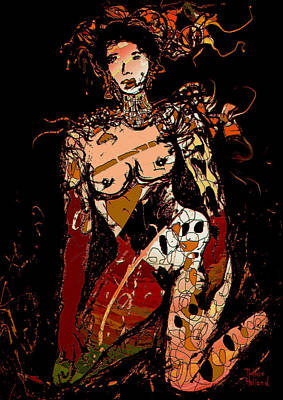 Nude 10 Art Print by Natalie Holland