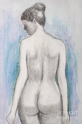 Drawing - Nude 34 by Alex Rahav