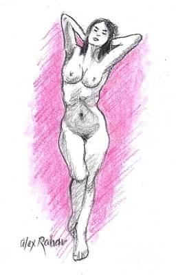 Painting - Nude 38 by Alex Rahav