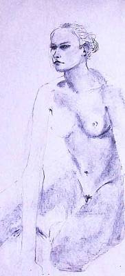 Painting - Nude 4216 by Elizabeth Parashis