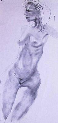 Painting - Nude 4221 by Elizabeth Parashis
