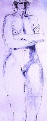 Painting - Nude 4230 by Elizabeth Parashis