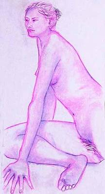 Painting - Nude 4242 by Elizabeth Parashis