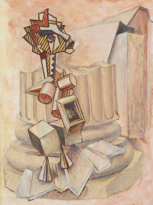 Painting - Nude Ascending A Staircase by Roger Clark