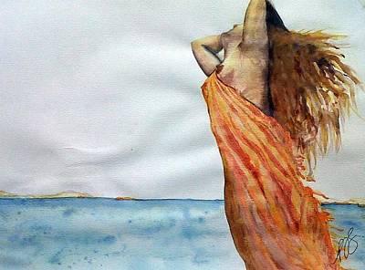 Painting - Nude Beach I. by Paula Steffensen